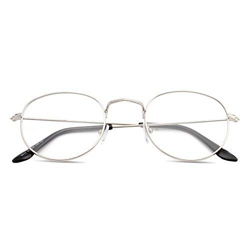 BM koreanische College Retro - runde Metall gut Rahmen Flache Spiegel Kunst mit Brille und Harajuku,der Silberne kiste (Bag)