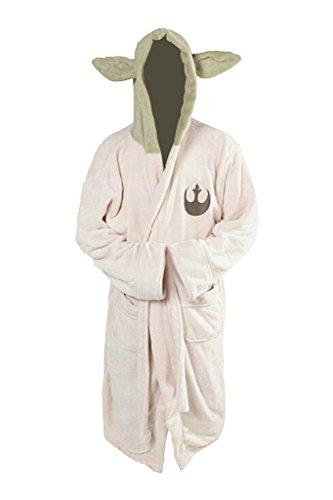 Hell Seite Meister Bademantel mit Kapuze Robe Cosplay kostüm Erwachsene - Star Wars Yoda Kostüm Für Erwachsene
