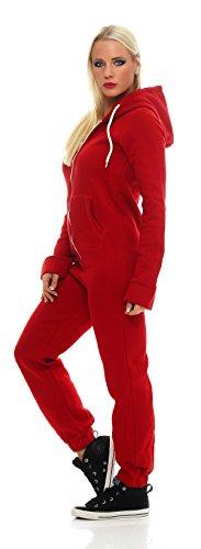 CBKTTRADE Jumpsuit Overall Onesie Hausanzug Norweger Rot