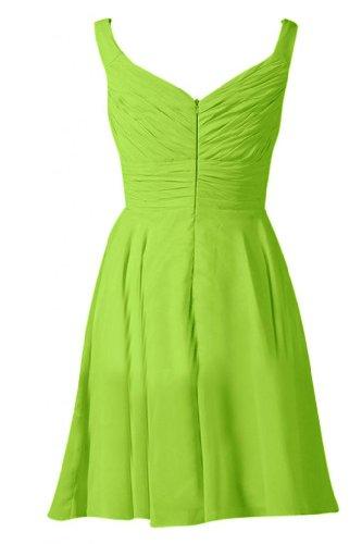 Sunvary semplice A-Line formale Gowns damigella d'onore Mini, per abiti da sera Verde