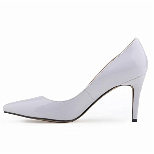 Femmes Pompes Talons hauts Fashion Pointed Toe Femmes Chaussures Talons Minces Pompes 10cm Talons hauts Chaussures Rouge Femme gray