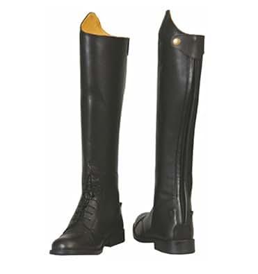 TuffRider Women's Baroque Field Short Boots, Black, 7 Slim