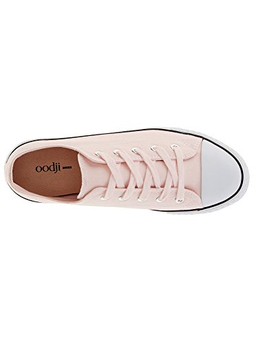 oodji Ultra Donna Sneakers Basic con Finiture a Contrasto Rosa (4000N)