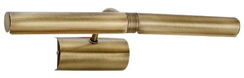 Licht-Erlebnisse Bilderleuchte Bilderlampe in Bronze E14-Fassung Bilderbeleuchtung Lampe Leuchte RA1/1/720