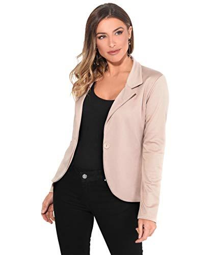 KRISP Smart Casual Stoff Fashion Blazer (Sandstein, Gr.36) (3558-STN-08)