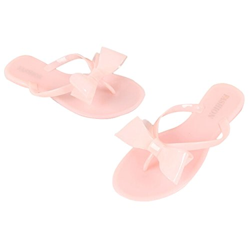 TOOGOO(R) Sandali femminili delle donne di modo della spiaggia di modo della piattaforma dell'arco della piattaforma degli alti pattini della spiaggia pattini flip femminili dimensioni 6 beige Rosa