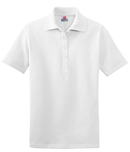 Hanes - Polo - Femme Blanc - Blanc