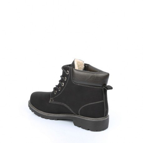 Ideal Shoes - Baskets pour homme style Montagnard Batista Noir