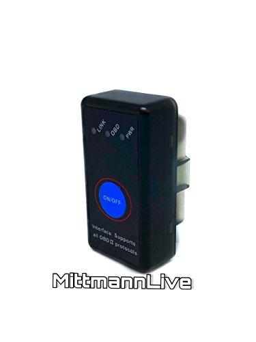 Mitt Homme Live OBD 2 voitures pour voiture Bluetooth 4.0 Mini Appareil de diagnostic CAN BUS Interface ELM327 voiture + Windows iOS + Android voiture Can erreur auslesen OBD II