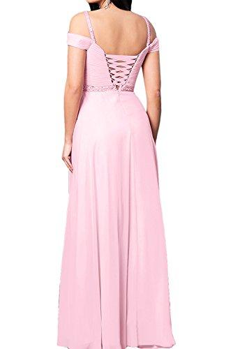 Toscana sposa dimensionamento lungo abiti da sera in Chiffon due-Traeger Prom dresses damigella d'onore del partito Hellblau