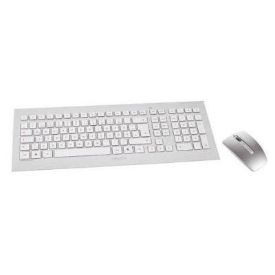Rf Wireless-tastatur Und-maus (CHERRY DW 8000 RF Wireless QWERTZ Deutsch Silber, Weiß Tastatur - Tastaturen (Standard, Kabellos, RF Wireless, QWERTZ, Silber, Weiß, Maus enthalten))