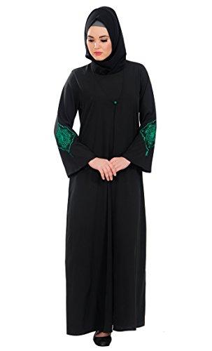 East Essence - Robe - Solid - Manches Longues - Femme Noir - Noir