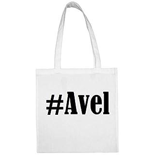 Tasche #Avel Größe 38x42 Farbe Weiss Druck Schwarz