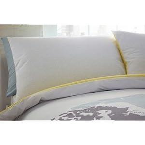 """Bluezoo – Juego de cama con diseño """"Explorador del mundo"""", colores variados, algodón poliéster, Multicolor, matrimonio"""
