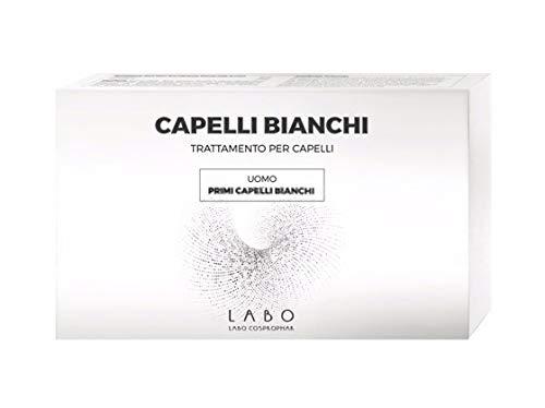 LABO CAPELLI BIANCHI Primi Capelli Bianchi UOMO Melanina Capillare Hair 20 Fiale