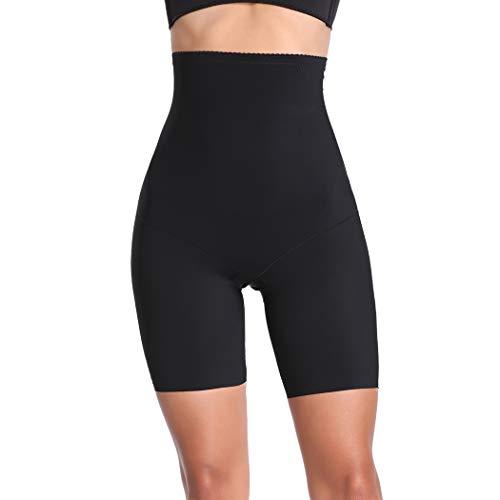 Joyshaper Miederhose Damen Bauch Weg Stark Formend Miederpants mit Bein Hohe Taille Taillenformer Shaper Shapewear angenehme Figurformende Unterwäsche Nahtlose (Schwarz-Light Control #1, Medium)