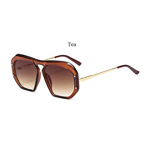 Taiyangcheng Pilot Sonnenbrillen Herren Damen Sonnenbrillen Klare Fliegerbrille Masculine,Tee
