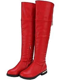DADAWEN Mädchen Over-Knee Stiefel Wasserdicht Boots Kinderschuhe für  Frühling Herbst Winter 61b77bc3cb