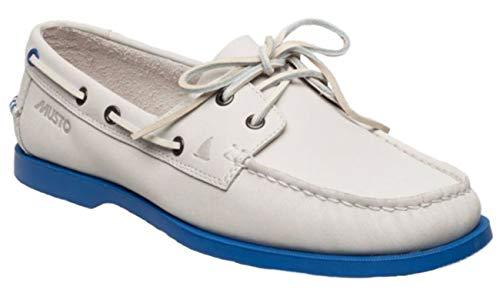 Musto Musto Herren Bootsschuh Nautic Bay Segelschuh, Größe:42.5 EU, Farbe:White