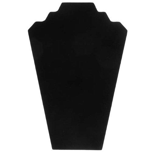Beadaholique en Velours Collier Chevalet Présentoir à Bijoux, 31,8 cm, Noir
