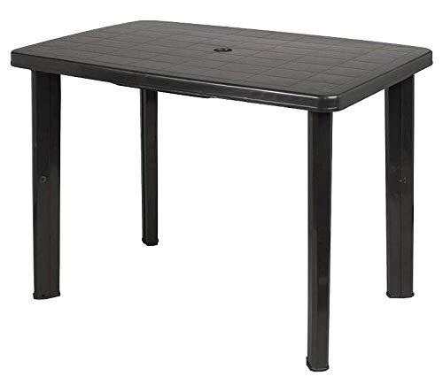 Faretto Gartentisch Campingtisch Tisch Garten 0030 100x70cm Anthrazit