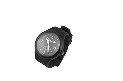 Preisvergleich Produktbild Herren Armbanduhr FORME VESPA Vintage, schwarz, Armband Silikon, Uhrwerk Citizen und Schlüsselanhänger VESPA '98 in Geschenkbox