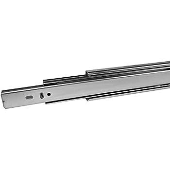 1 pi/èce Glissi/ère Sortie Totale 700 mm avec Rappel Automatique 45 Kg Capacit/é de Charge Glissi/ère de Tiroir Glissi/ère T/élescopique de SO-TECH