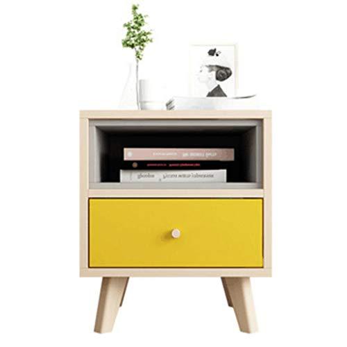 Einfacher und sparsamer Nachttisch Schlafzimmer Mini Nachttisch (Farbe : Gelb)