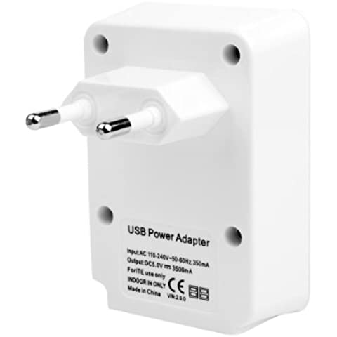 4 Puertos USB Inicio Viaje Cargador de pared Adaptador 5V 3.5A para el iPhone 5 4S 5S BC253E