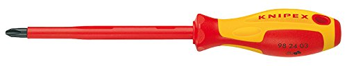 KNIPEX 98 24 00 Schraubendreher für Kreuzschlitzschrauben Phillips 162 mm