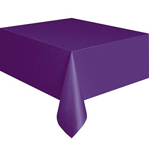 XingYue Direct 72 Zoll Platz einweg tischdecke einfarbig tischdecke deckt DIY für Home Hochzeit Restaurant Party Weihnachten Dekoration (Color : Dark Purple) (Deckt Tisch Weihnachten-kunststoff)