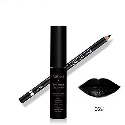 Sannysis 1pc Pintalabios liquido y 1pc brillo de labios labiales (02)