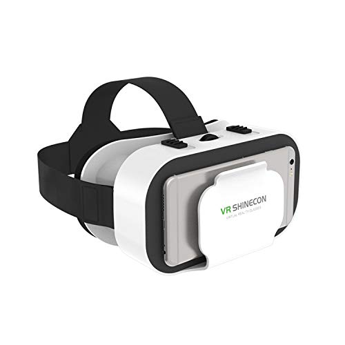 VR Brille für 3D Filme Video Movies Games Brille 3D VR Brille Kompatibel mit 4,7~6,0 Zoll...