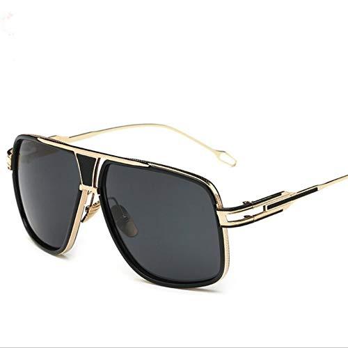 Wenkang Herren Sonnenbrille Designer Männlich Driving Oversized Gold Sonnenbrille Frauen Shades Männlich Flat Top,1