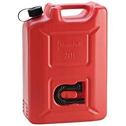 hünersdorff Kraftstoff-Kanister PROFI 20l für Benzin, Diesel und andere Gefahrgüter, UN-Zulassung, made in Germany, TÜV-geprüfter Produktion, rot