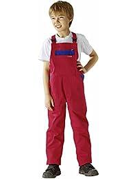 0165 Planam Kinderlatzhose rot/kornblau