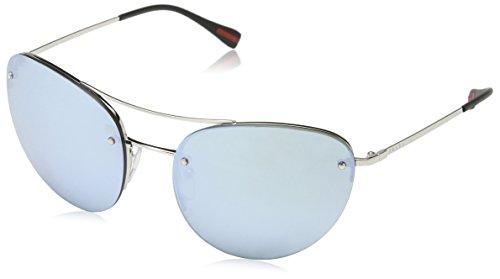 Prada Sport Damen PS51RS Sonnenbrille, Silber (Silver 1BC5K2), One size (Herstellergröße: 59)