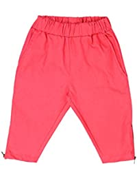 Lil Orchids Girls Cotton Casual Knee Length Pant(LO-WVEN-SLD)