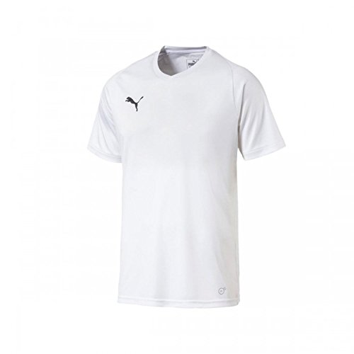 Puma Liga Jersey Core T-Shirt Homme, White Black, FR : S (Taille Fabricant : S)