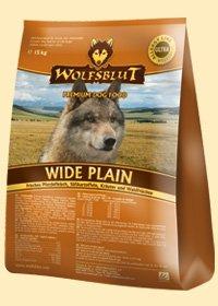 Wide Plain Trockenfutter für Hunde mit frischem Pferdefleisch und Süßkartoffeln 8kg (4x2kg) Wolfsblut