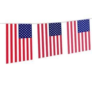 10M Guirlande Fanion Banderole de Decoration Drapeau Américain USA 4 Juillet