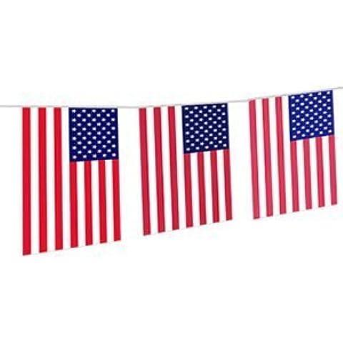 10M USA Americana Ghirlanda da Decorazione con Bandiere 4 Luglio