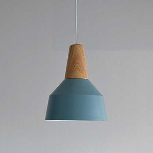 SSBY Lámparas de comedor de aluminio, estudio de personalidad creativa de madera...