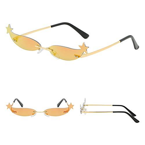 CixNy Damen Polarisierte Sonnenbrille, Hochwertige Persönlichkeit Brillengestell Objektiv Metall Rand Rahmen Retro Brille Eyewear Gespiegelte Sunglasses