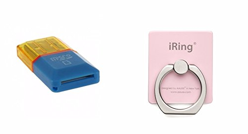HIGH SPEED Card Reader T flash card Micro SD card compatible all smartphones+ iRing Masstige Ring Grip & Stand holder for any Smart devices (iPhone, Android phone, iPad, iPod,Galaxy and Tablet)- multi colo  available at amazon for Rs.119