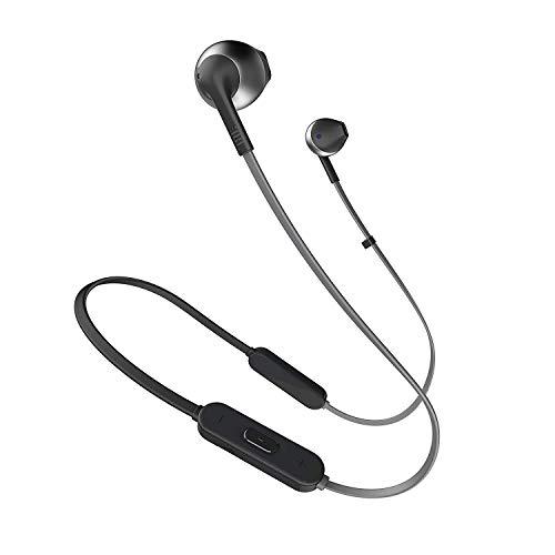 JBL Tune 205BT Cuffie Wireless, Auricolari Bluetooth senzaFili, con Microfono e Telecomando a 3 Pulsanti, per Musica, Chiamate e Sport, fino a 6 h di Autonomia, Nero