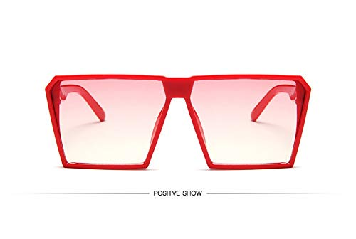 WSKPE Sonnenbrille,Sonnenbrille Mädchen Junge Kinder Sonnenbrille Mit Rechteckigem Rahmen Uv400 Brillen Fashion Kids Eyewear Roten Rahmen Rosa Linse