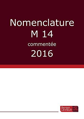 Nomenclature M 14 commentée