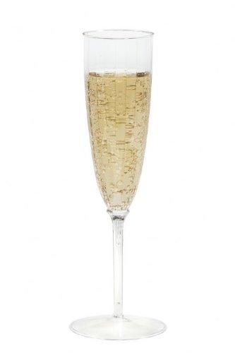 (142ml klar Kunststoff Champagner Flöten)