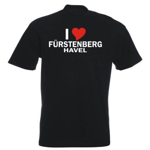 T-Shirt mit Städtenamen - i Love Fürstenberg/Havel - Herren - unisex Schwarz